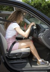 Driving with bad posture.